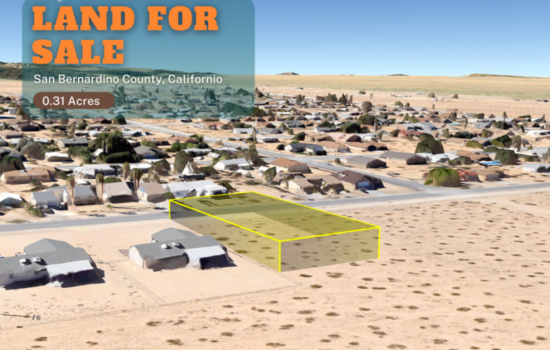 0.31-acre in Twentynine Palms, CA- Power next to Property! – Desert Life Close to Mountain Areas.